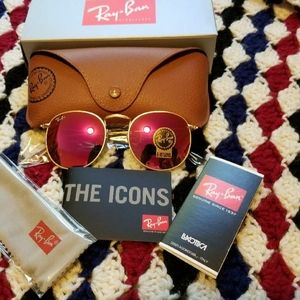 Ray Ban Sunglasses Round Pink Gold Rb3447